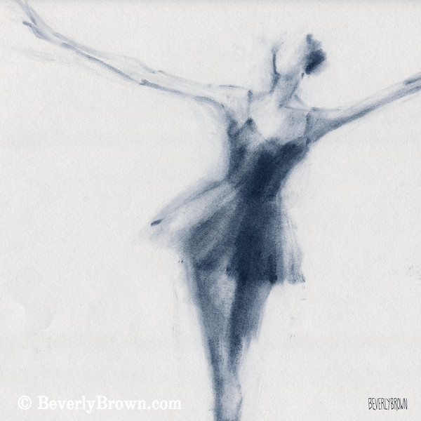 Ballet Sketch Dying Swan - Beverly Brown Prints