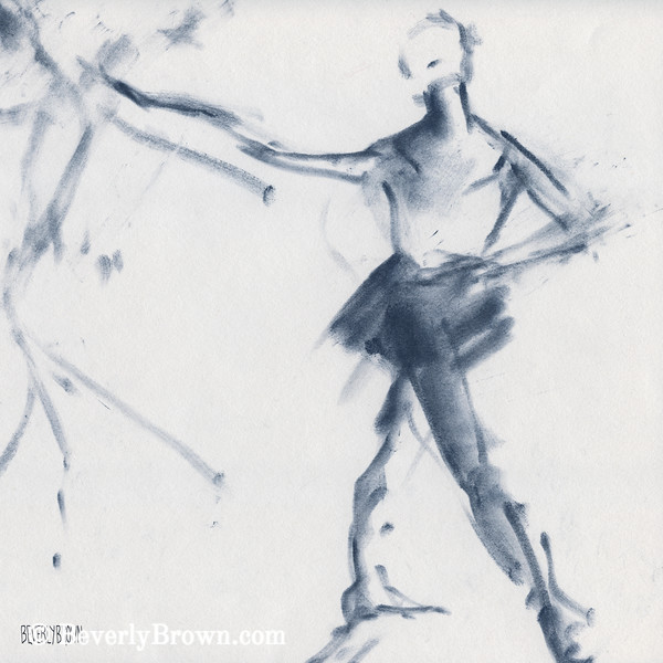 Ballet Sketch Tendu Front - Beverly Brown Prints