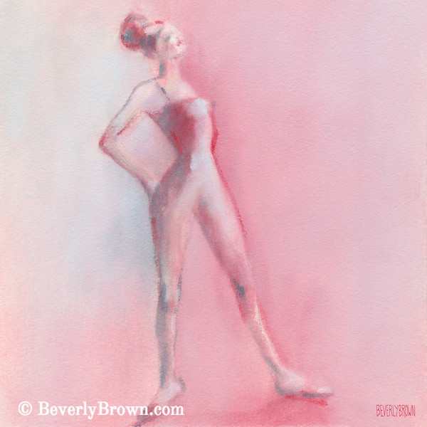 Rosy Pink Ballerina - Beverly Brown Prints