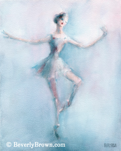 Ballerina Pastel Pink and Blue - Beverly Brown Prints