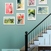 Eclectic Framed Gallery Wall for the Staircase - Beverly Brown Prints