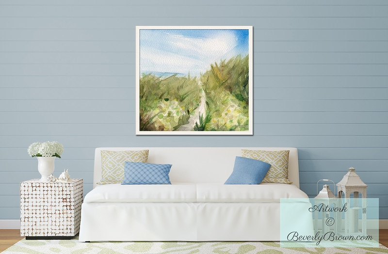 Beach Art for the Living Room - Beverly Brown Art Prints