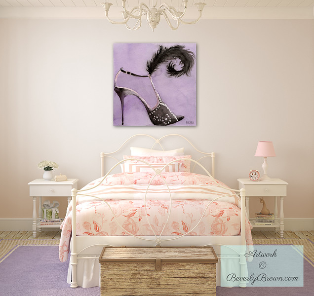 Art for a Teenaged Girl's Room - Beverly Brown Canvas Art
