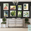 Salon Style Art Display with a Green Theme - Beverly Brown Prints