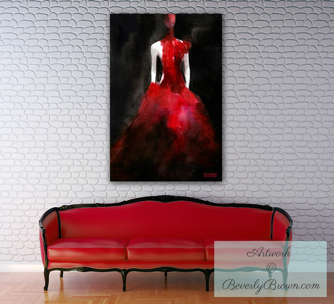 Fashion Art for the Living Room - Beverly Brown Art Prints
