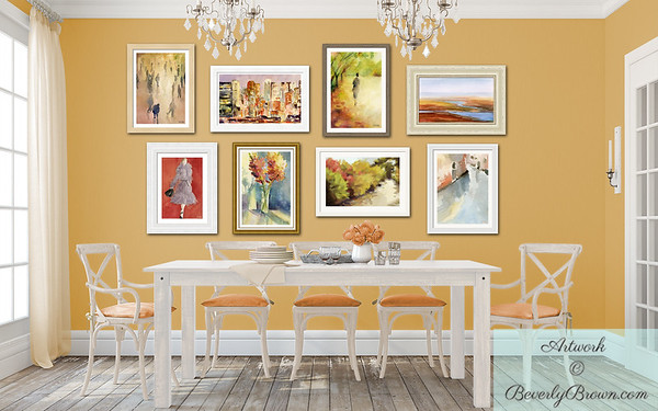 Autumn Inspired Gallery Wall for the Dining Room