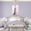 Lavender Bedroom with Fashion Art - Beverly Brown Art Prints
