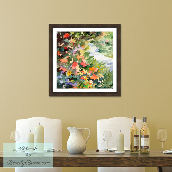 French Garden Art for the Dining Room - Beverly Brown Art Prints