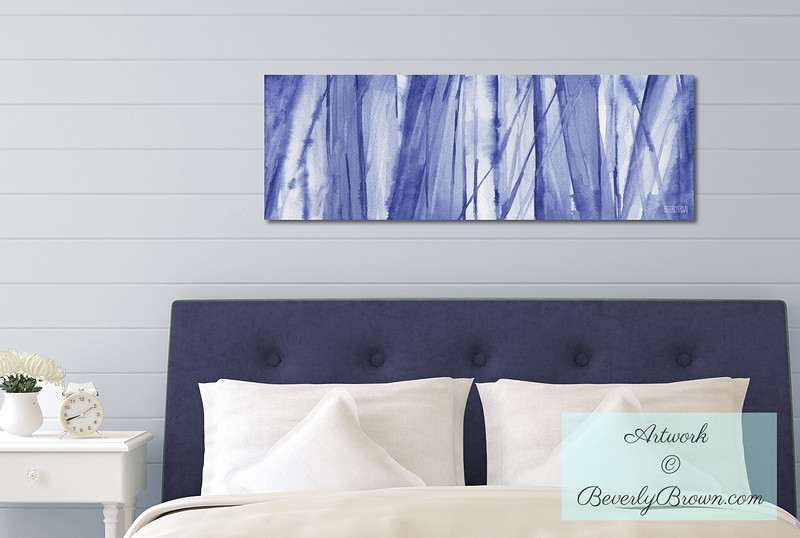 Blue and White Large Canvas Art for the Bedroom - Beverly Brown Canvas Art