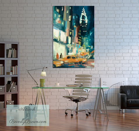 New York City Loft Style Home Office | Beverly Brown Art Prints