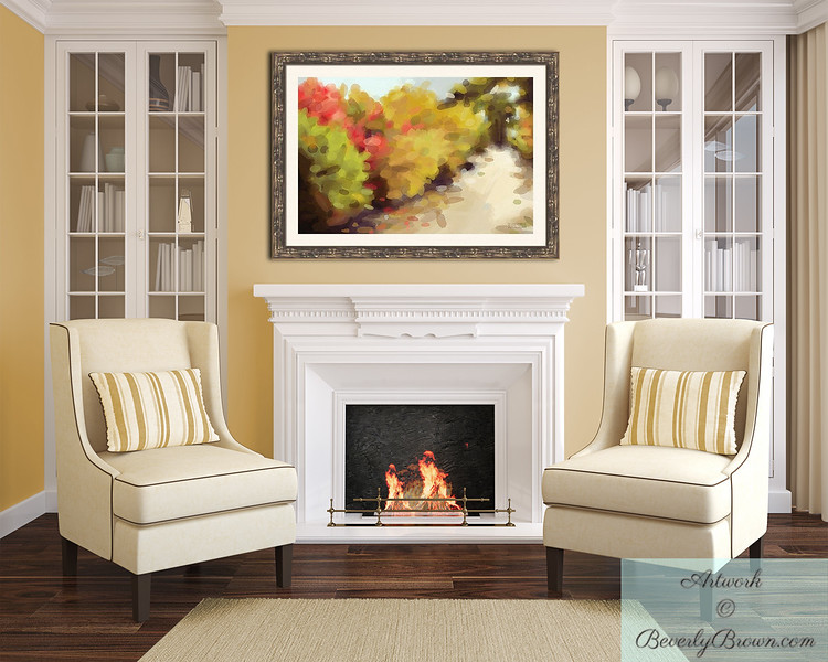 Autumn Landscape Art over the Fireplace | Beverly Brown Prints
