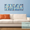 Blue and Coral Abstract Canvas Art for the Living Room - Beverly Brown Canvas Art