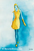 Yellow Ensemble Couture Fashion Art - Beverly Brown Art Prints