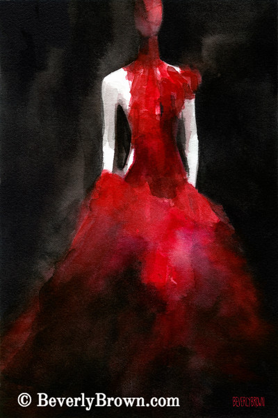 Inspired by Alexander McQueen High Fashion Art - Beverly Brown Prints