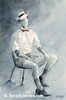 Hat and Bow Tie Men's Fashion Art - Beverly Brown Art Prints