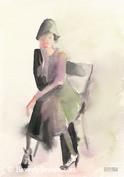 Woman in a Cloche Hat Fashion Art - Beverly Brown Art Prints