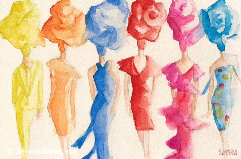 Inspired by Alexis Mabille Couture Fashion Art - Beverly Brown Art Prints