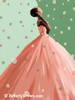 Peach and Mint Green Fashion Art - Beverly Brown Prints