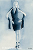 Woman Blue Dress Front Fashion Art - Beverly Brown Art Prints