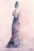 Purple + Pink Evening Dress Fashion Art - Beverly Brown Prints