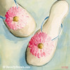 Summer Flip Flops Shoe Painting - Beverly Brown Art Prints
