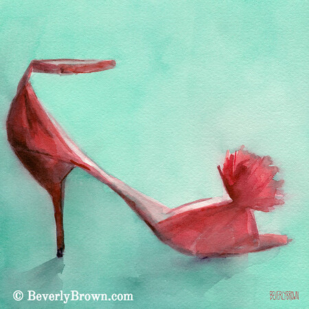 Red shoe paintings for sale - framed prints and canvas art.