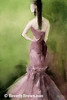 Mauve Evening Dress High Fashion Art - Beverly Brown Art Prints