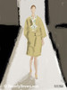 Fashion Illustration ipad sketch - Carolina Herrera NY Fashion Week Spring 2012