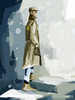 Man in Trench Coat Men's Fashion Art - Beverly Brown Art Prints