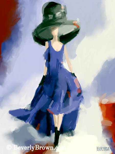 Inspired by Yohji Yamamoto Fashion Art - Beverly Brown Art Prints