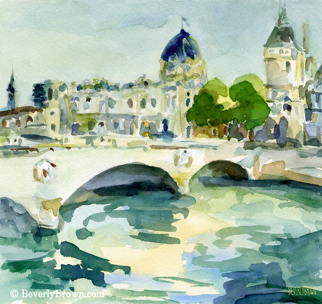 Pont de Change Paris Painting - Beverly Brown Art Prints
