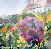 Purple Blossoms Monets Garden France Painting - Beverly Brown Art Prints