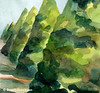 Topiary Parc de St. Cloud France Painting - Beverly Brown Art Prints