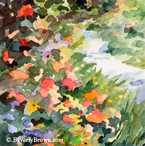 Path Monets Garden France Painting - Beverly Brown Art Prints