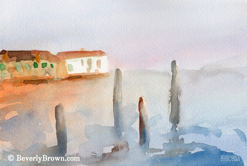 View from Murano Venice Painting - Beverly Brown Art Prints