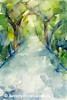 Path Conservatory Garden Central Park Painting - Beverly Brown Art Prints