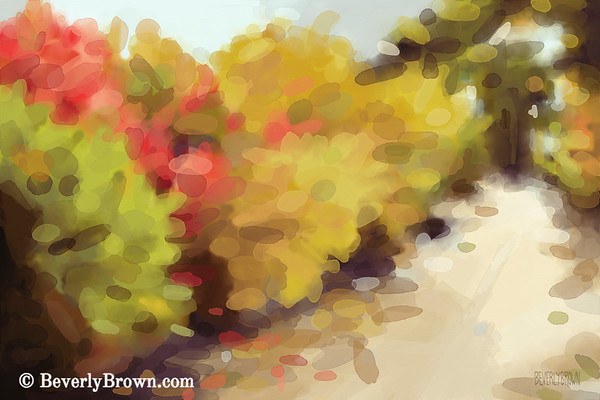 Autumn landscape painting of Central Park for sale by artist Beverly Brown