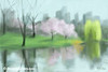 Painting of Central Park in Spring Painting - Beverly Brown Prints