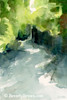 Sunlight + Foliage Conservatory Garden Central Park Painting - Beverly Brown Art Prints