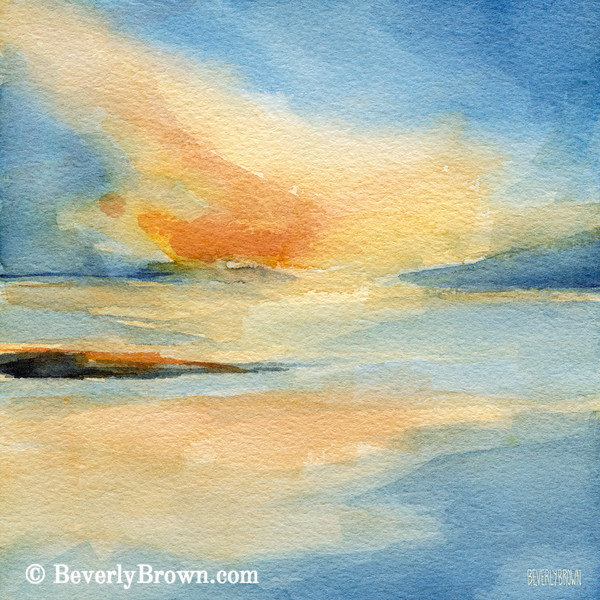 Cape Cod Sunset Seascape Painting - Beverly Brown Art Prints