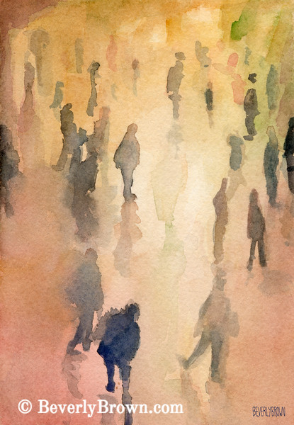 Figures Grand Central New York City Art - Beverly Brown Art Prints