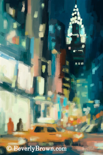 View Across 42nd Street New York City - Beverly Brown Art Prints