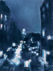 Across 23rd Street NYC High Line at Night - Beverly Brown Prints