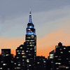 Empire State Building Ombre New York Skyline - Beverly Brown Prints