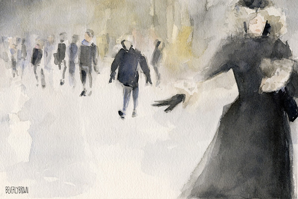 Walking in the Snow - Beverly Brown Prints