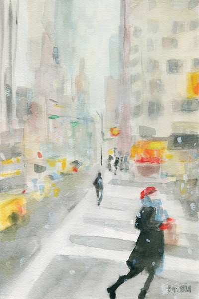 New York Winter 57th Street - Beverly Brown Prints