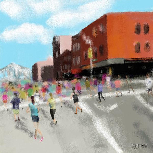 New York City Marathon - Beverly Brown Prints