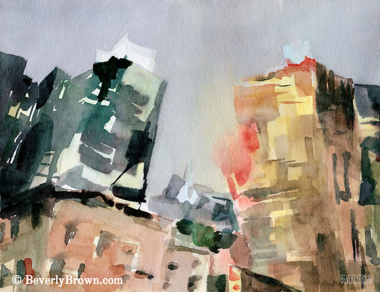 Milford Plaza 8th Avenue New York City Art - Beverly Brown Art Prints