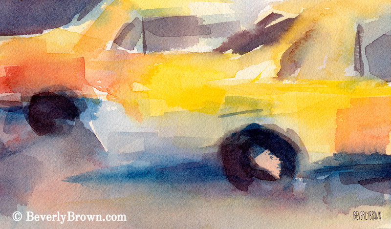 Taxi Cabs New York City Art - Beverly Brown Art Prints