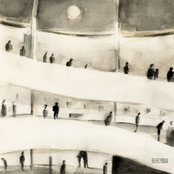 The Guggenheim Inside - Beverly Brown Prints